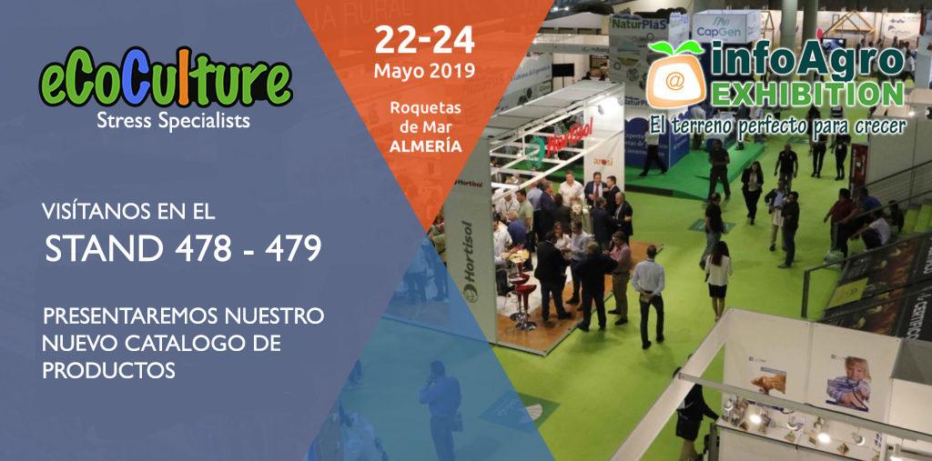 Ecoculture Biosciences volverá a estar presente en Infoagro Exhibition del 22 al 24 de mayo en Roquetas